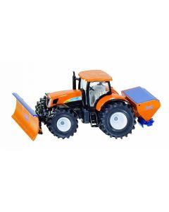 New Holland tractor met sneeuwschuif en zoutstrooier 1:50