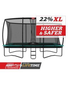 BERG Ultim Champion Regular 410x250 Groen + veiligheidsnet deluxe xl