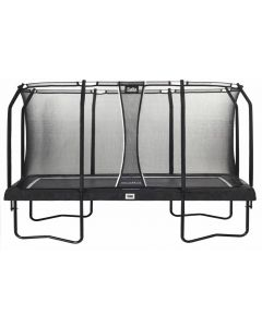 rechthoekige trampoline  premium black edition 244X396