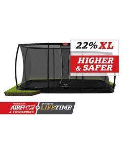 BERG Ultim Elite FlatGround 500x300 Zwart + veiligheidsnet deluxe xl