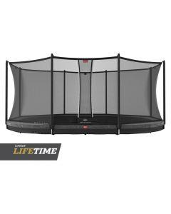 BERG Grand Favorit InGround 520x345 Grijs + veiligheidsnet comfort