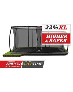 BERG Ultim Champion FlatGround 410x250 Grijs + veiligheidsnet deluxe xl