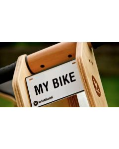 Bike Naamplaatje