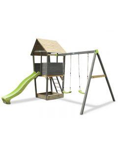 EXIT Aksent Speeltoren met aanbouwschommel (2 schommels)
