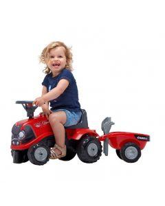 Tractor Case Babyfarmer met Aanhanger - Looptractor