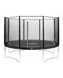 trampoline met veiligheidsnet 366 Zwart