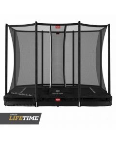 BERG Ultim Favorit InGround 280x190 Zwart + veiligheidsnet comfort