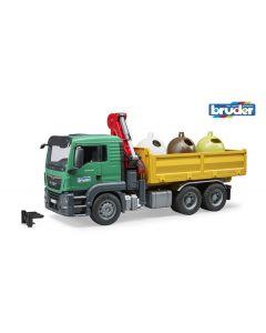 MAN TGS Kraan met 3 containers 03753