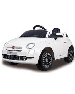E-Car elektrische auto Fiat 500 12v wit