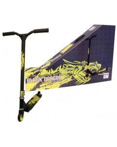 Black Dragon Stuntstep Scooter Zwart Lime