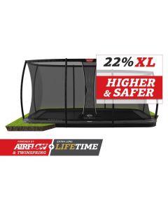 BERG Ultim Elite FlatGround 500x300 Grijs + veiligheidsnet deluxe xl
