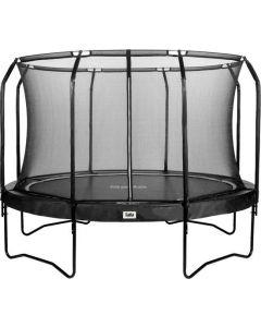 trampoline Premium Black Edition met veiligheidsnet 396 cm+ gratis trapje