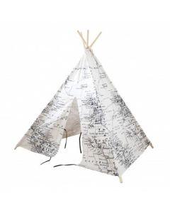 Wereldkaart tipi tent