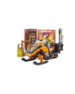 Bruder 63102 Berghut met snowmobil