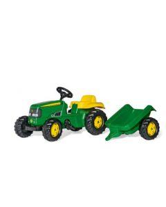 John Deere tractor met aanhanger