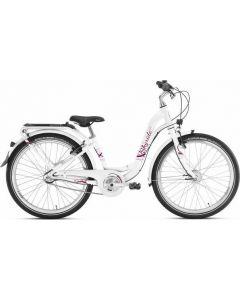Kinderfiets Skyride 24 inch Aluminium light (City) Wit 3 versnellingen