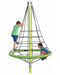 Gewapend touw constructie 'firry' - 2.64 m - zwart/zwart/limoen groen