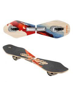 Waveboard Rider Wood Abstrakt 83cm