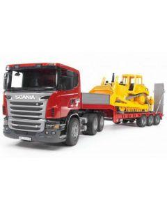 Scania dieplader met Caterpillar Bulldozer