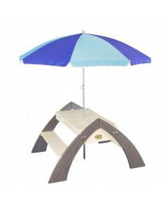 Delta zand en water picknicktafel met parasol