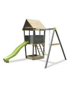 EXIT Aksent Speeltoren met aanbouwschommel (1 schommel)